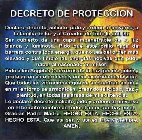 Decreto de protección