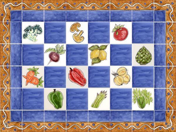 Fruits and Vegetables Tile Designs