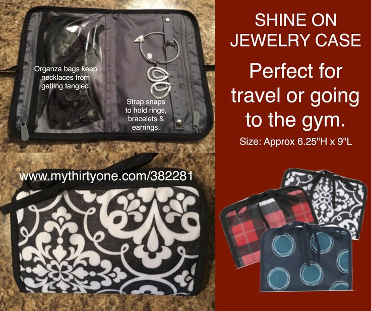 thirty one gifts shine on jewelry case