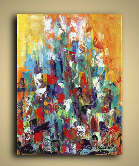 Gallery Canvas and Fine Art Prints Colorful Abstract Cityscape Conceptual Art…