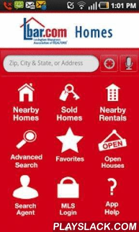 LBAR Homes  Android App - playslack.com ,  LBAR Homes brings the most accurate and up-to-date real estate information right to your phone! With LBAR Homes, you have access to all homes for sale and MLS listings throughout the Bluegrass covering Anderson, Bourbon, Clark, Fayette, Franklin, Jessamine, Montgomery, Nicholas, Powell, Scott and Woodford Counties. LBAR Homes is provided by the Lexington-Bluegrass Association of REALTORS® (LBAR), the region's leading advocate for homeownership. LBAR…