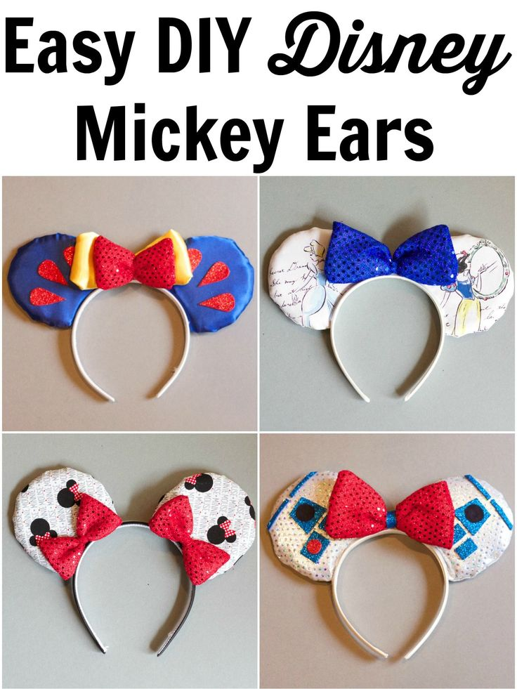 DIY No SEW Mickey Ears! This tutorial is very easy to follow.