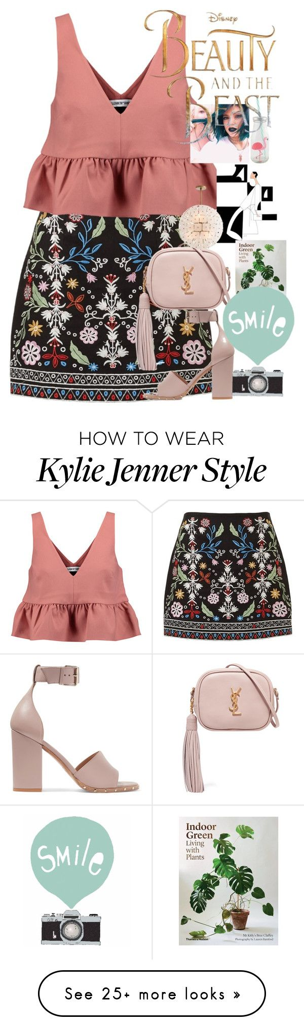 """""""the beauty and the beats"""" by hanii-omachiss on Polyvore featuring Elizabeth and James, Valentino, Yves Saint Laurent, Arteriors and Disney"""
