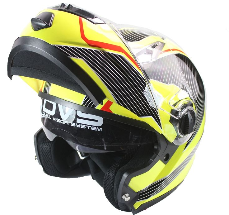 MOTORCYCLE Modular Bike Flip-Up Crash Helmet Double SUN Visor Colour CHOICE | eBay