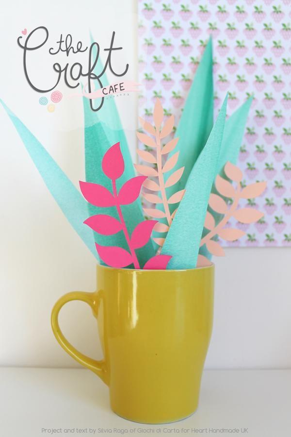 Heart handmade UK - Papieren bloemen, leuk om tw knutselen met de kinderen. DIY paper plants #knutselen #crafts