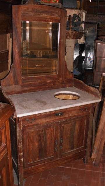 Credenza lavabo in massello originale 900'