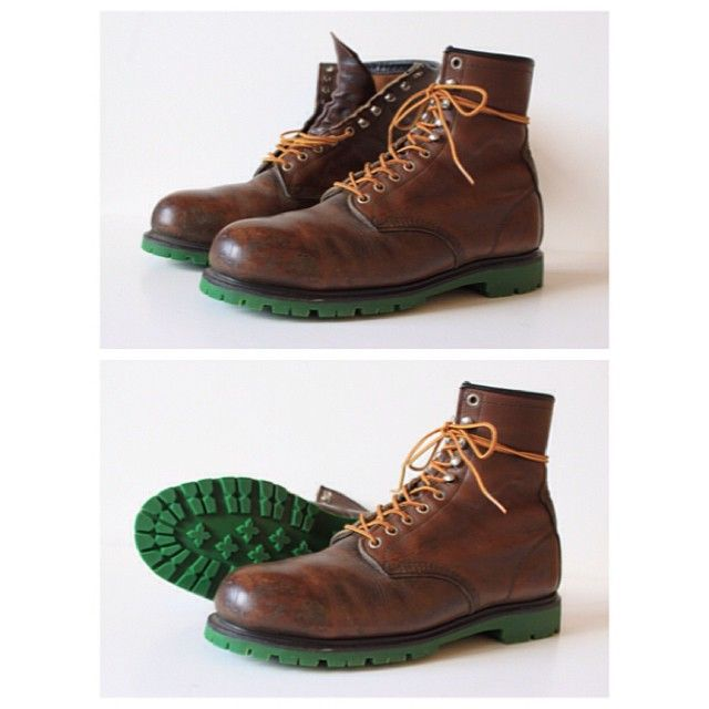 Resoled Red wing #953 with our green Commando outsole ...