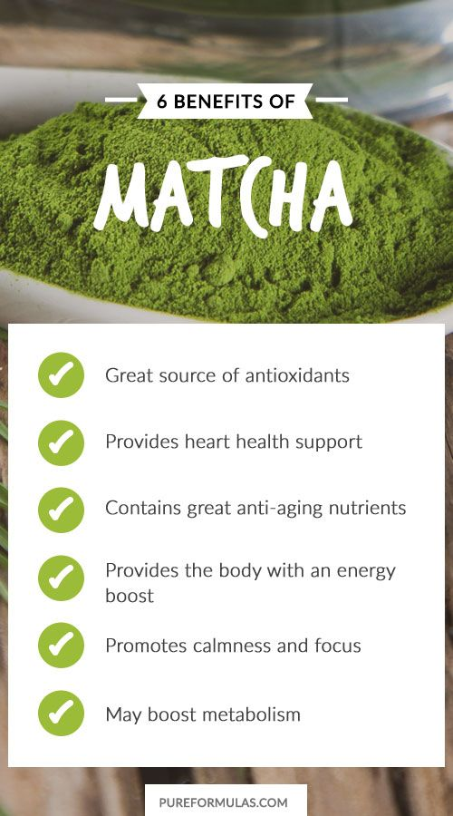 """6 Health Benefits of Matcha. Matcha means """"powdered tea"""" and it actually may be confused at times with green tea because it comes from the same herb."""