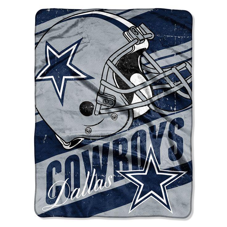 Pink Rugs Dallas Cowboys x Deep Slant Micro Raschel Throw Blanket