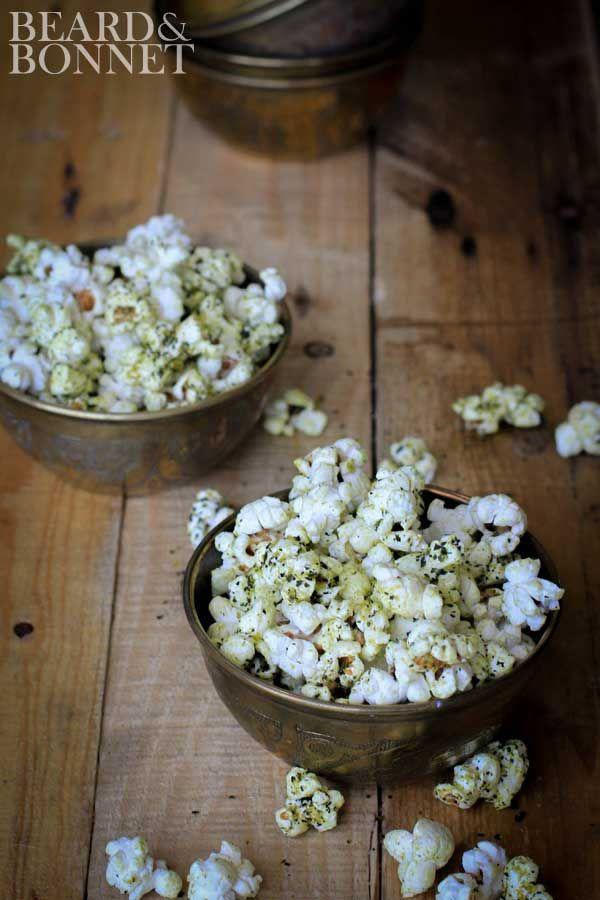 """Cheesy"" Kale Chip Popcorn {Beard and Bonnet} #glutenfree #vegan #projectlunchbox"