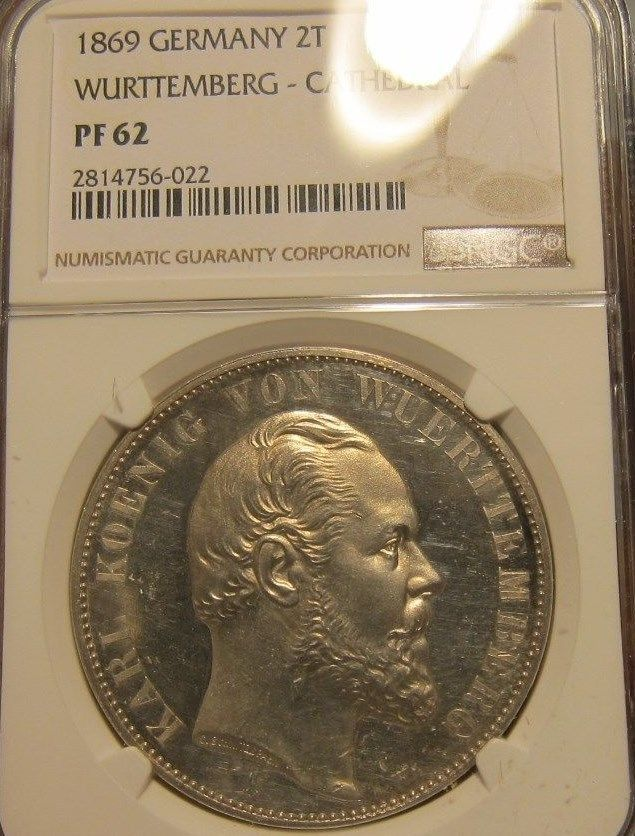 1869 Germany Wurttemberg 2 Thaler Silver BU UNC NGC PF-62 Proof | Coins & Paper Money, Coins: World, Europe | eBay!