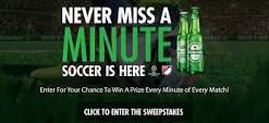 Congratulations! You are a lucky winner of a 2016 season subscription to a MLS Live streaming service in the Heineken Never Miss a Minute Sweepstakes