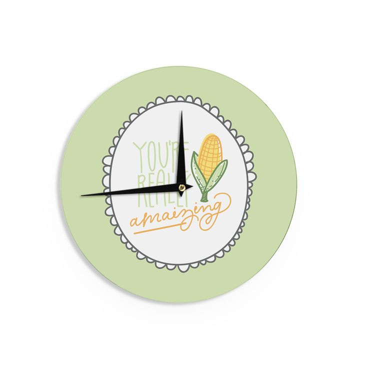 "Busy Bree ""Amamzing"" Green Yellow Wall Clock"