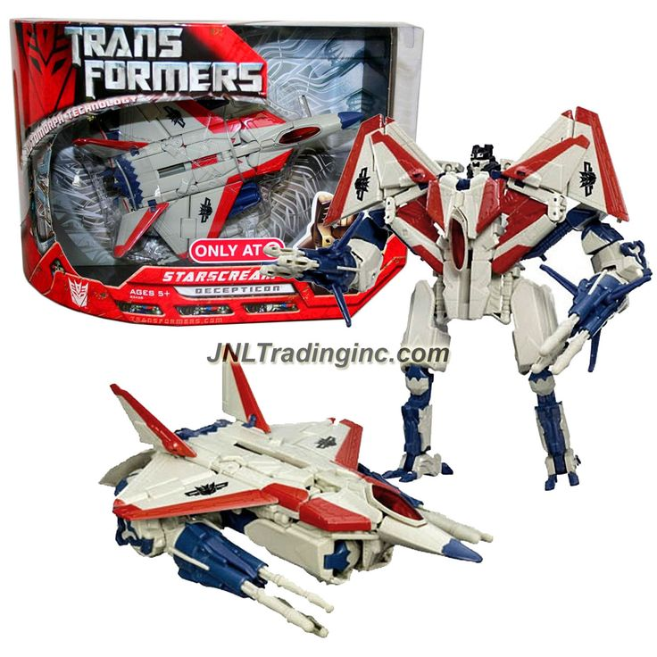 "Hasbro Transformers 1st Movie Series Exclusive Voyager Class 7"" Tall Figure - Decepticon STARSCREAM with Exclusive G1 Deco (Vehicle: F-22 Raptor Jet)"