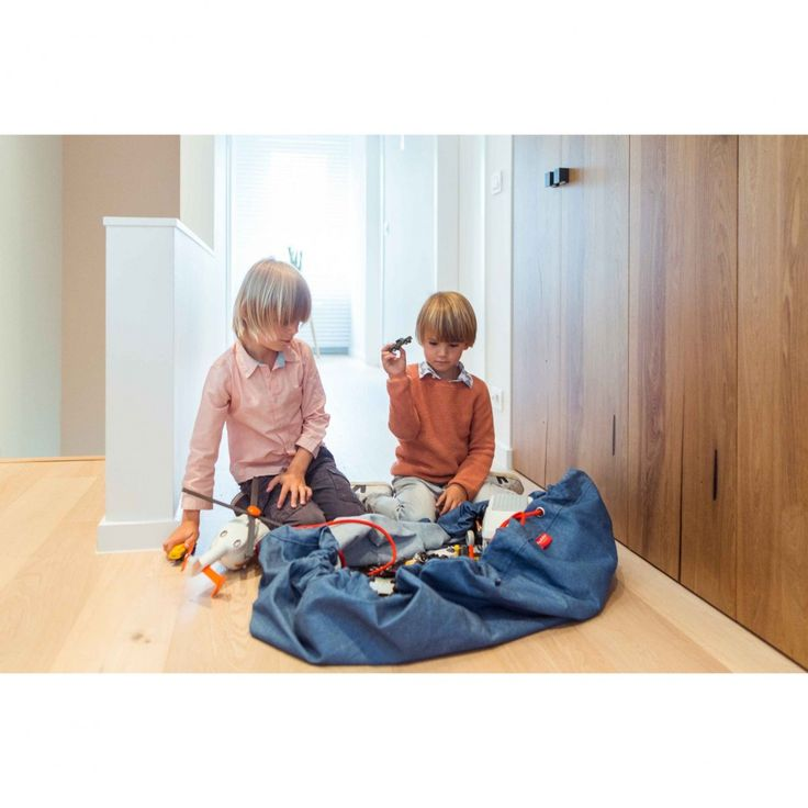 Play and Go Τσάντα αποθήκευσης παιχνιδιών & Χαλάκι 2 σε 1 - Jeans