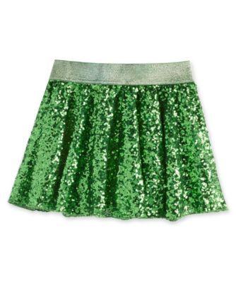 Green Sequin Skirt 49