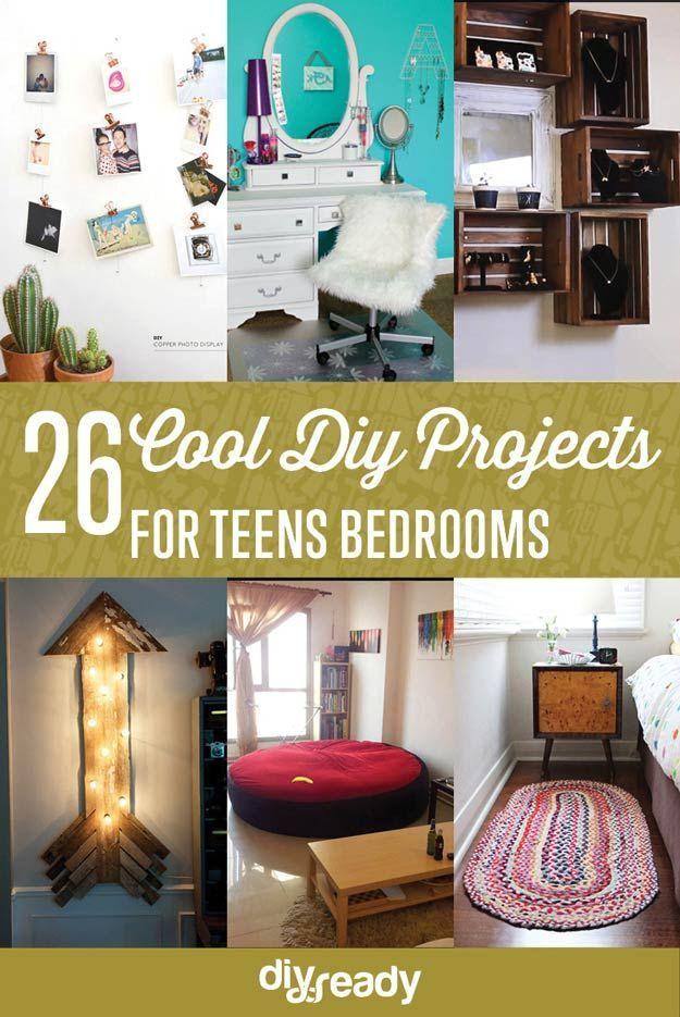 26 Cool DIY Projects for Teens Bedrooms by DIY Ready at http://diyready.com/diy-projects-for-teens-bedroom/