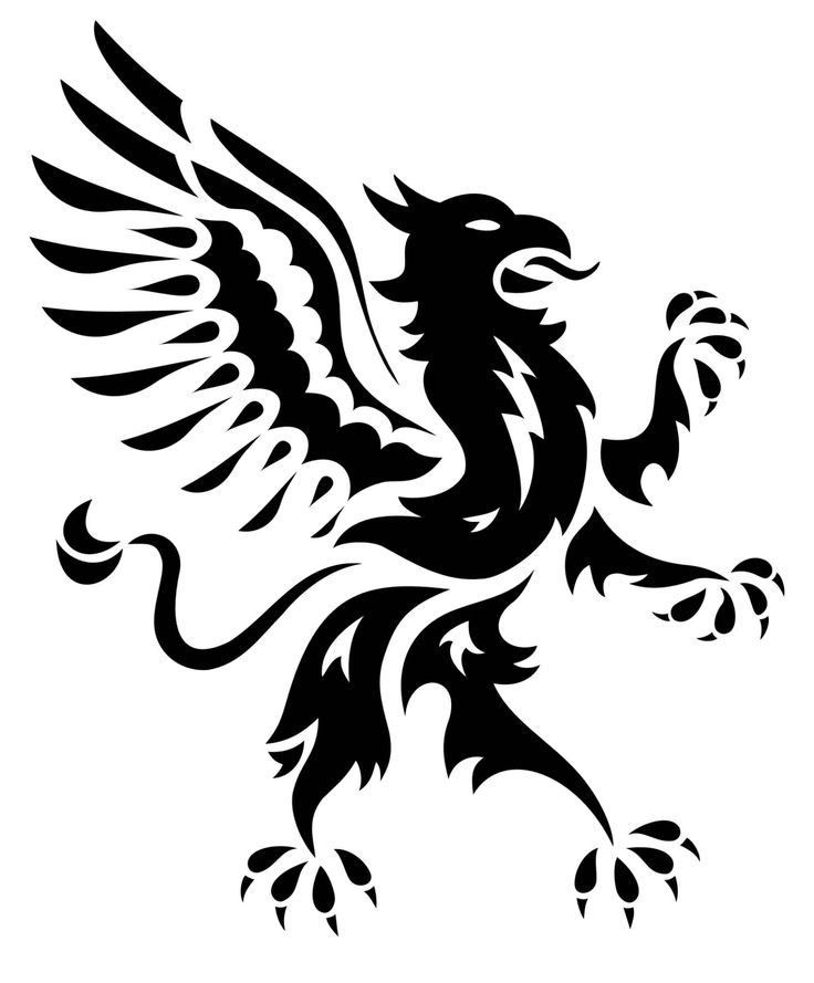 Extremely Nice Tribal Griffin Tattoo Design