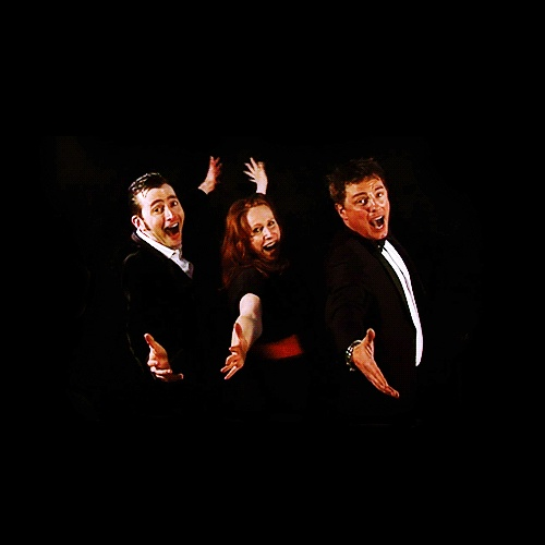 David Tennant, Catherine Tate, and John Barrowman <3 them