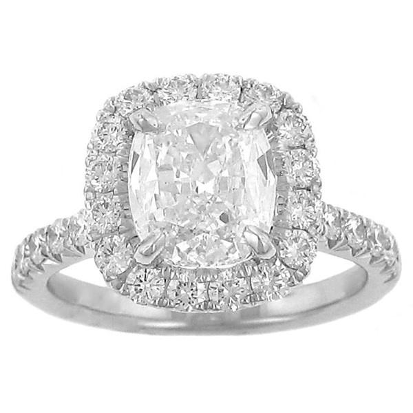 Henri Daussi Halo Engagement Ring