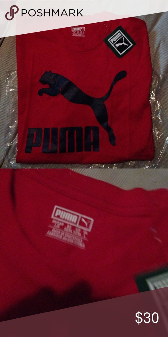 Puma Shirt Red and Blue puma shirt. Brand New with tags. Never wore! Puma Tops Tees - Short Sleeve