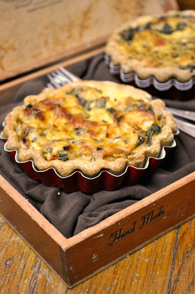 Whip up this Vegan Spinach Quiche for breakfast.