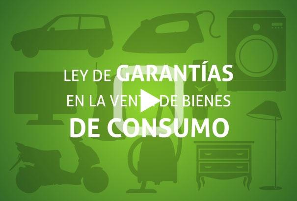 Infografía animada sobre la Ley de Garantías en la Venta de Bienes de Consumo
