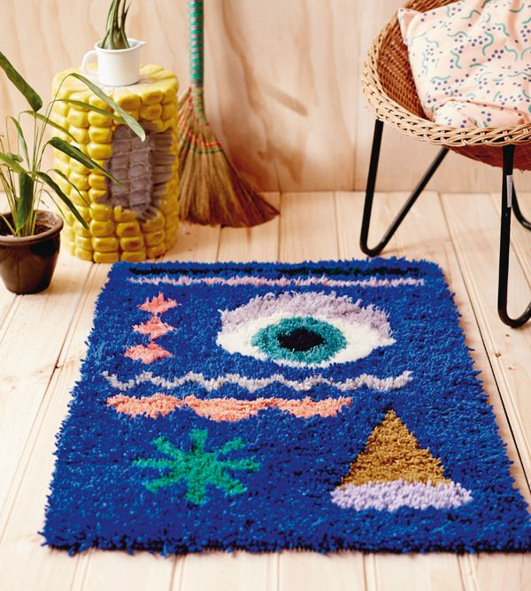 Beci Orpin Diy Latch Hook Rug Check Out The Corn Cob