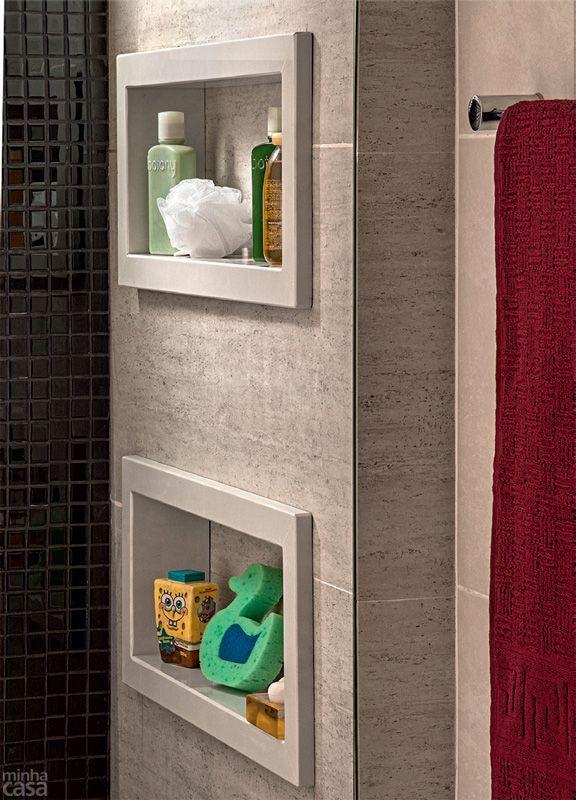 Banheiro clássico para pais e filhos - Casa