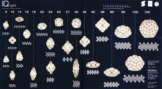 Miren las 22 variantes de la lámpara IQ inteligente usando desde 9 piezas hasta 120!