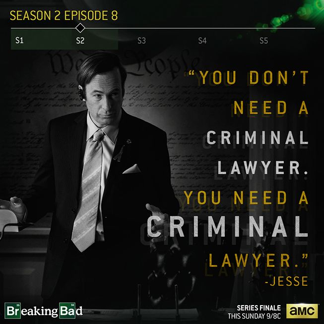Most perfect description of Saul. But I would absolutely want him to be my lawyer.