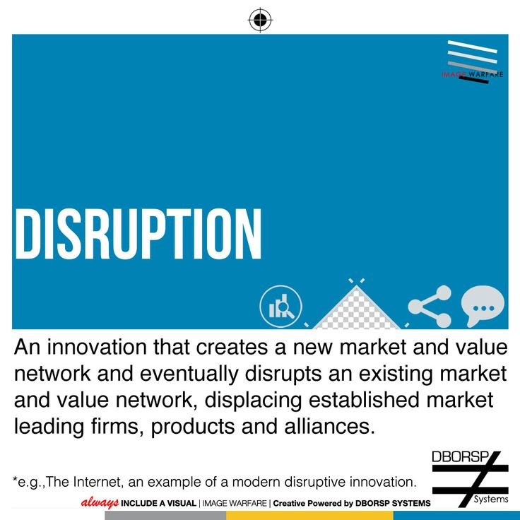Lexicon of The Ends - Disruption: In the context of business, Business models, not products, are disruptive. Business is my art and I opt to approach it with a Hip Hop mindset so sticking to strict definitions and business guidelines are not applicable. I choose to consume information then chop it up, then flip it, then innovate with my own panache. Define your target market/niches, then unleash your visual narrative: it gets results. #ThinkVisual #HustleCouture #Disruption…