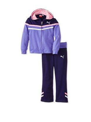 60% OFF Puma Girl's Colorblock Knit Set (Simply Purple)