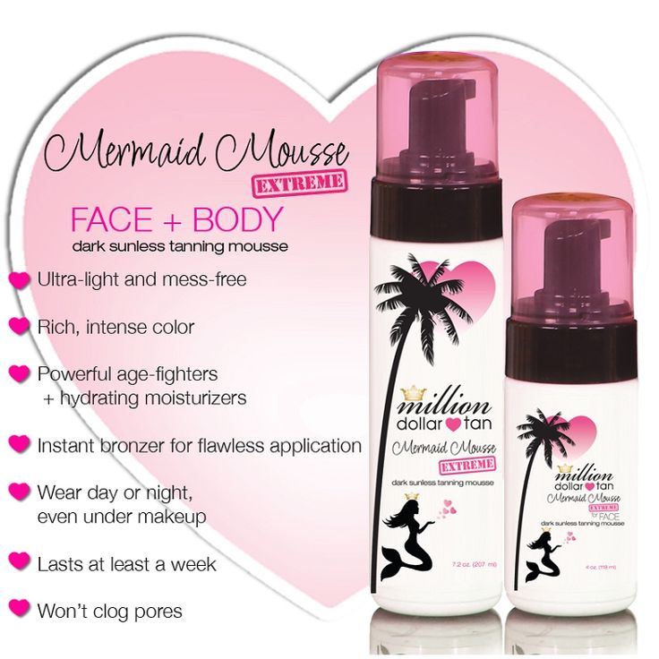 Million Dollar Tan - Ultimate Sunless Tan - Mermaid Mousse EXTREME FACE+BODY
