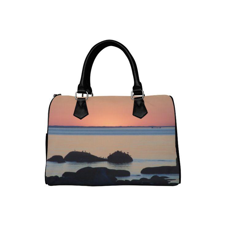 Dusk on the Sea Boston Handbag (Model 1621)