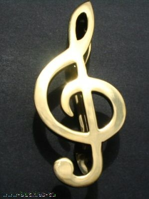 Solid Brass Music Note Musical Door Knocker Musical