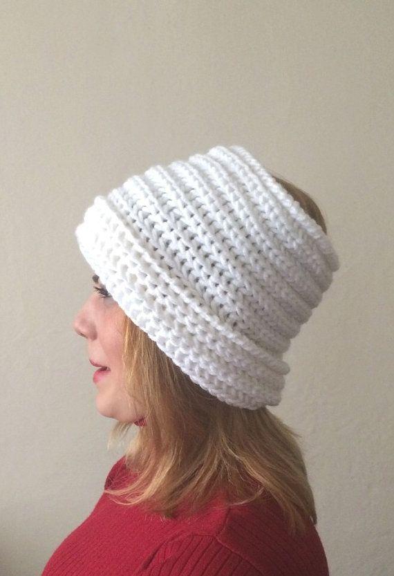 white knit infinity scarf white circle scarf white by DamlaScarf