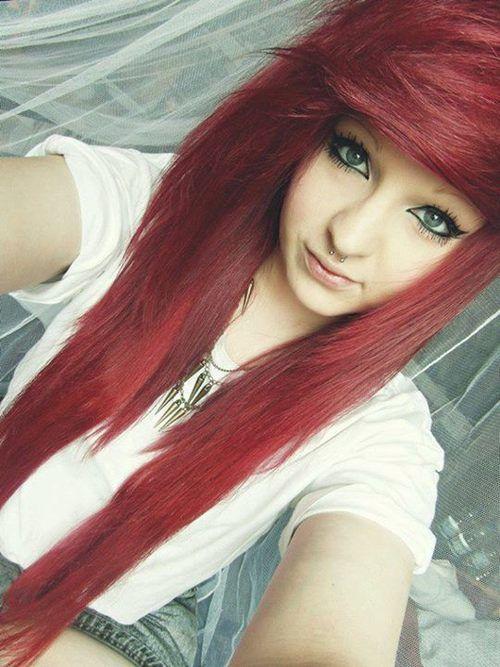 Красивые девушки эмо фото рыжей