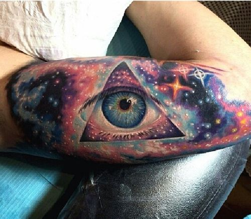 #amazing #3d #space #tattoo #arm