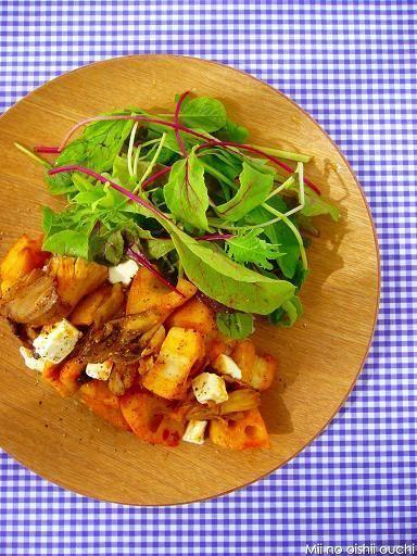 さくさく蓮根と舞茸の甘辛サラダ丼♪簡単ぱぱっとワンプレートごはんレシピ