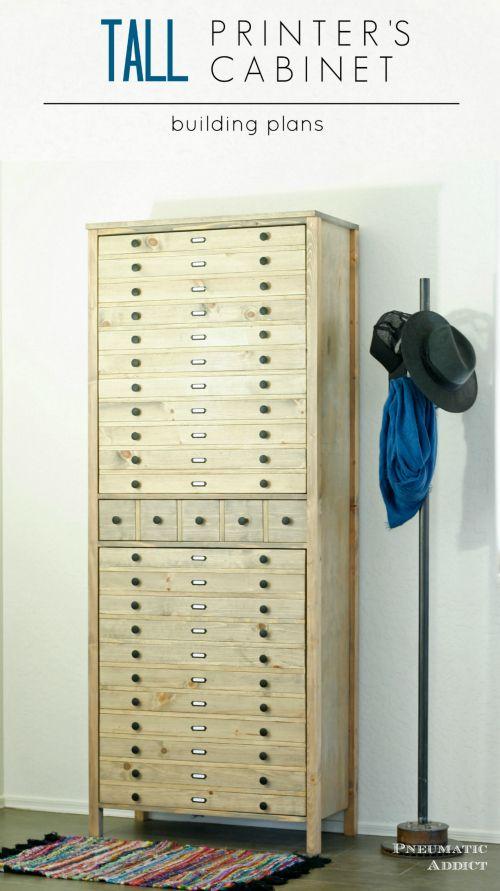 Tall Printer's Cabinet
