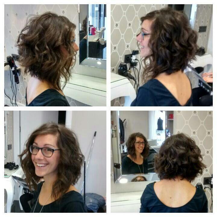 Schneiden Sie Einen Lockigen Bob Neue Frisuren Bob Haircut Curly Curly Hair Styles Curly Lob Haircut