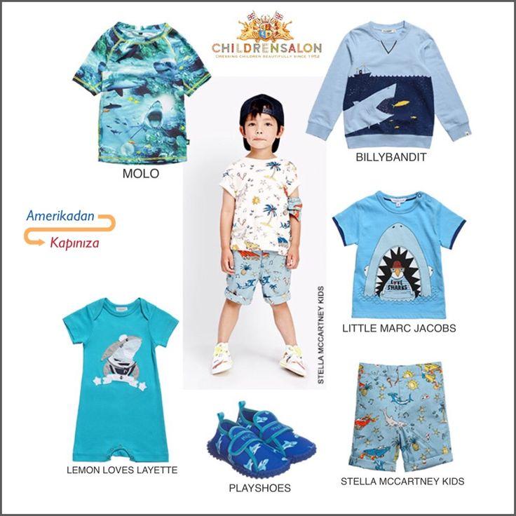 Köpekbalığı Sevenlere En Güzel Çocuk Kıyafetleri AmerikadanKapiniza.com Aracılığıyla Kapınızda.. #amerikadankapiniza #childrensalon #summer