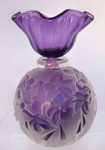 Floral Lilac perfume bottle