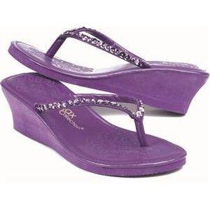 purple flip flops | shop shoes sandals flip flops sequined wedge wedding flip flops $ 15 ...