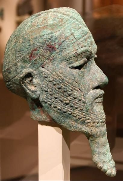 The face of Ur-Namma, King of Ur of the Sumerians  before 2095 BC.