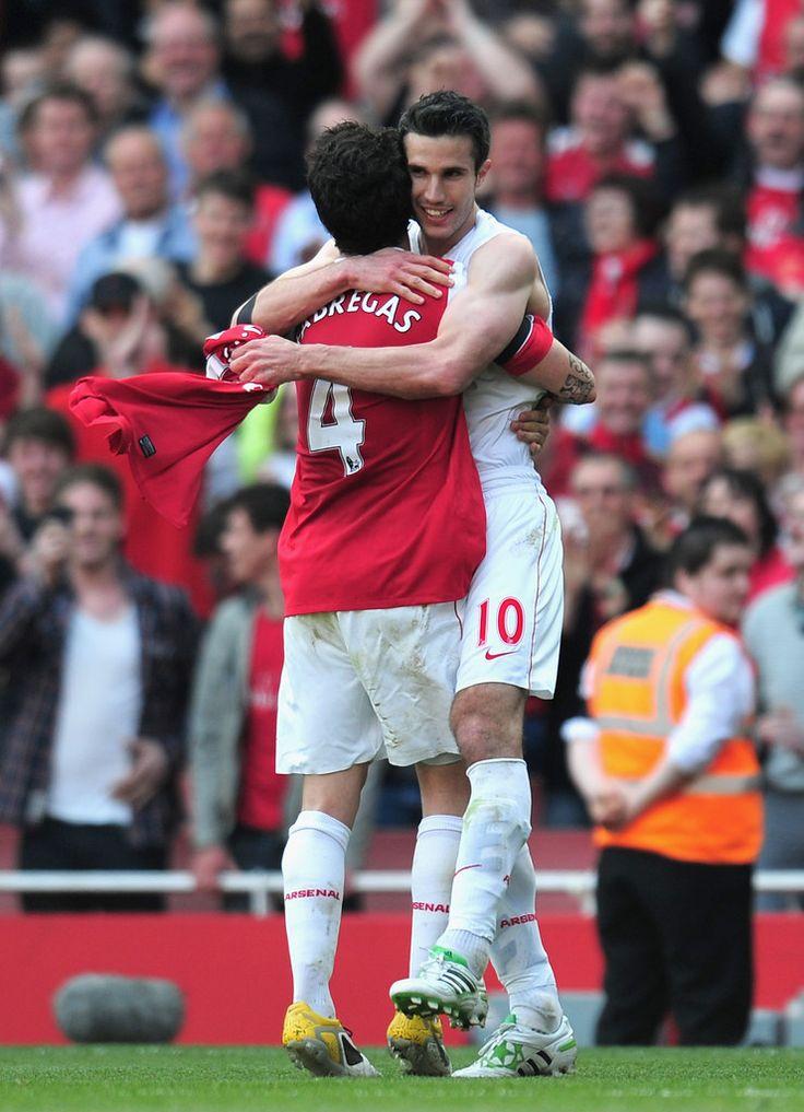 Robin Van Persie Cesc Fabregas Photos: Arsenal v Liverpool - Premier League