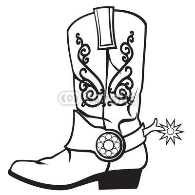 drawing cowboy boots - Google Search | Embroidery | Pinterest