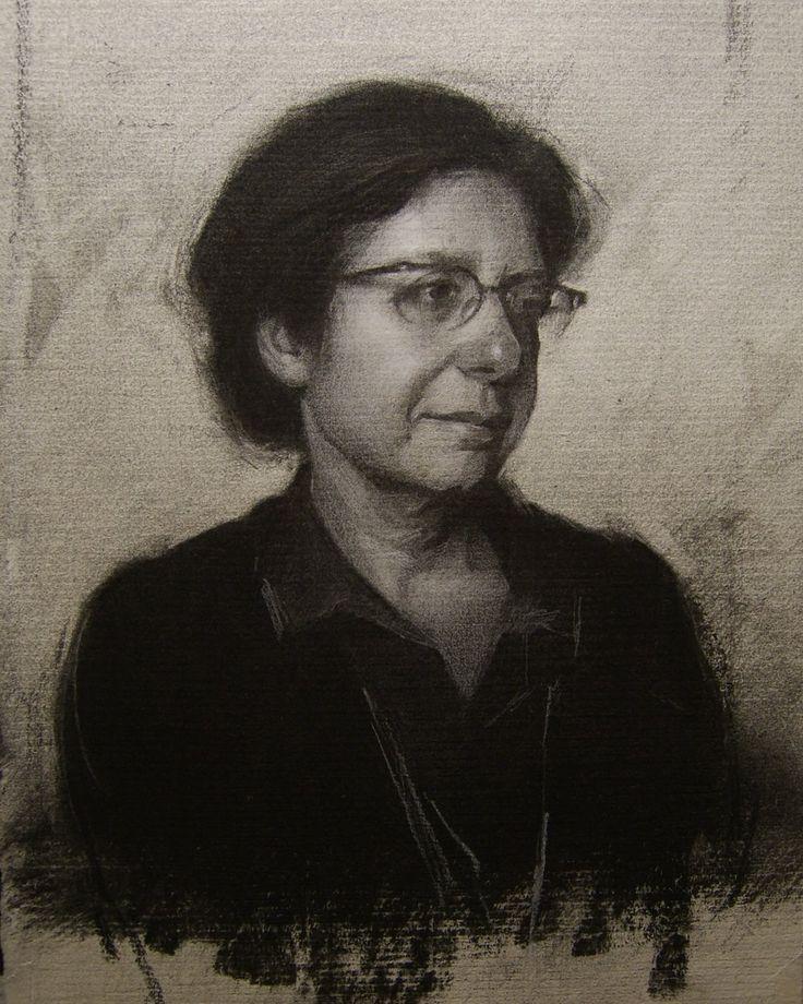 """Portrait of Simona Dolci"" by Stephen Bauman.    Simona was my teacher at FAA."