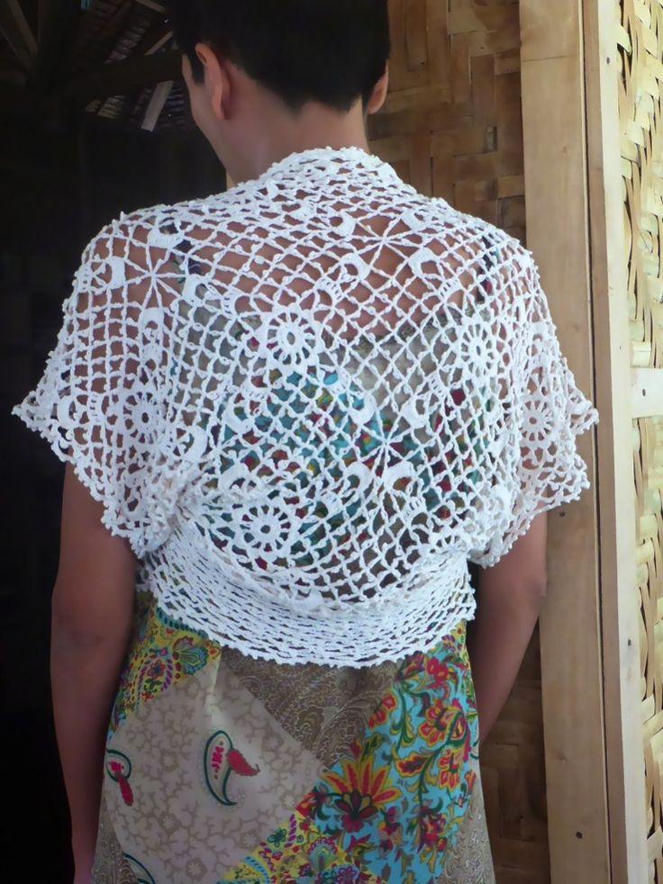 51 best Crochet prendas bolero images on Pinterest | Crochet boleros ...